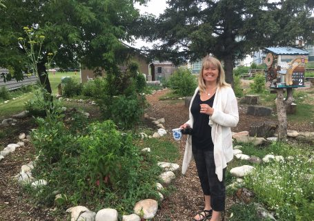 Alison was instrumental in starting the garden